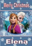 Personalised Anna & Elsa Frozen Christmas Card